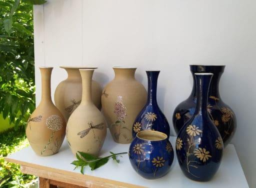 Jarras pintadas a mão RM Cerâmica Artistica