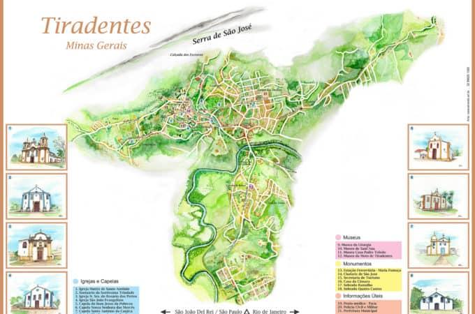 Mapa de Tiradentes
